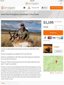 CO Pronghorn Hunt